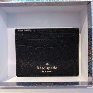 Kate Spade Lola Glitter Black Cardholder